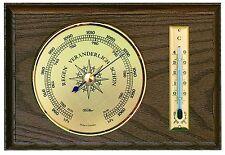 Fischer meteo interno d'attesa, barometri, termometri, MOGANO colori, 5028-22