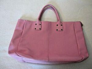 GAP Pink Pebble Cow Leather Satchel Laptop Bag EUC!