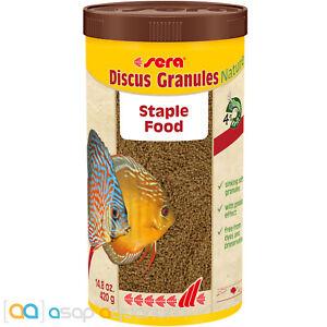 Sera Discus Granules Nature 1000mL Natural Fish Food Granules for Discus Fish