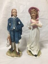 Vintage Lefton Limited Edition 8� Blue Boy and Pinkie Figurines #Kw387.