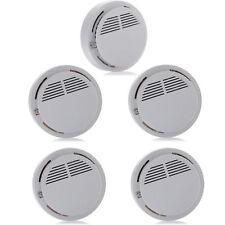5pcs/lot Home Security Cordless Fire Alarm Systems Equipment White Smoke Sensor