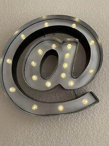 "Light Up ""@"" Room Sign"