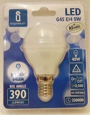 Aigostar LED A5 G45 E14 5w = 40w Daylight White 6400k Golf Ball Light Bulb Lamp