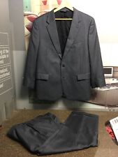 JOS A BANK MENS GRAY SUIT 44 JACKET AND 42 PANTS SLIM FIT