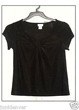 Ladies Jaclyn Smith Black Smock Top-NWT