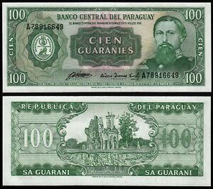 PARAGUAY 100 GUARANIES (P205) N. D. (1982) UNC
