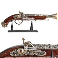 "15.5 "" Decorative Naval Pirate Toy Gun Flintlock Blunderbuss Replica Pistol Std"