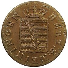 (I13) - German states Sachsen Saxe Meiningen - 2 Pfennig 1833 - VF - KM# 136