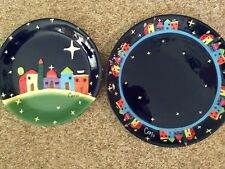 Christmas Bethlehem Platter and Plate, mint condition