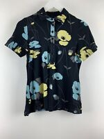 Womens Ladies Floral Black T-shirt Next Size 14 Uk *SD
