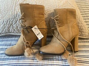 NEW! Women's NY&C Brushed Suede Boots Size 7