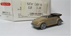 Wiking 1:87 VW 1302 LS Cabriolet Käfer OVP 0802 06 perlbeige