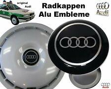 1x orig. Audi 80 Radkappen Aluminium Emblem Logo ø 88mm / Rarität aus 1990 / NEU