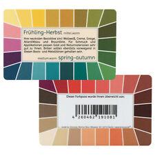 "Farbpass Frühling-Herbst ""Loop"" - Plastikkarte mit 44 Farben"