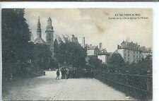 CP Luxembourg - Entrée de la ville et église St-Michel