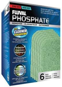 Fluval 306/406 and 307/407 Phosphate Remover Pads, 6 Per Pack