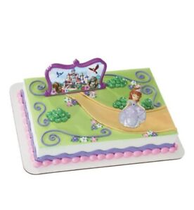 Cake Topper DecoPac Sophia The First Figure Castle Plaque Decoration Set NEW