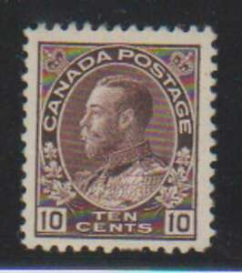A8227: Canada #116 Mint, OG, VF, LH; CV H
