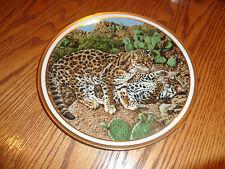 1982 Lenox - Ocelots - American Wildlife Collectible Plate - Le - Adams