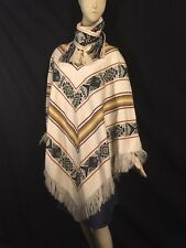 PONCHO 100% Wool Hand Made From Ecuador