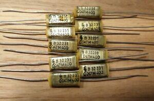 10 Stück Siemens Kondensator 47nF, 0,047uF 400V B32231  Folienkondensator