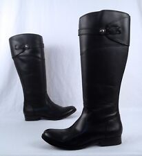 NEW!! Frye 'Molly Button' Tall Riding Boot- Black- Size 7 B  $425 (B37)