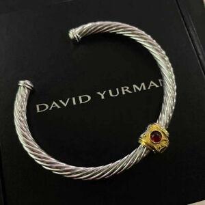 David Yurman Topaz Sterling Silver Bracelet with 14K Gold
