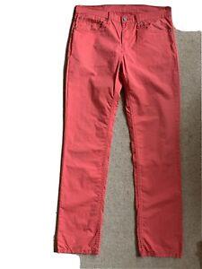Pair Mens Lightweight Cotton Levi Strauss 511 Jeans