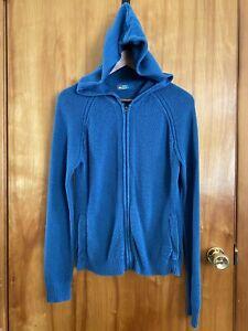REI Women's Hooded Knit Sweater Pockets Full Zip Long Sleeves Size M