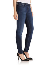 VINCE Second Skin Skinny Midrise Jeans in Blue Ray Dark Lightweight Denim sz 30