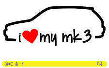 I Love My MK 3 Sticker Line OEM Low Stance Dub ADESIVI