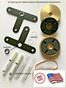 93-02 Firebird Headlight Motor Repair Kit Brass Gear LH & RH with Instructions