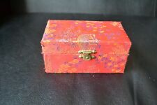 Vintage Baoding Chinese Stress Balls Iron Ball Direction in Cloth Wrapped Box