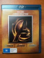 Avengers 1-3 Blu-ray Set The Complete Marvel Trilogy 1 2 3 Movie Collection 123