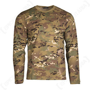 Camouflage Army Military Cotton Long Sleeve Shirt Top - Multitarn