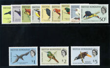 British Honduras 1962 QEII Birds set MLH. SG 202-213. Sc 167-178.