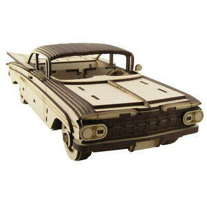 36cm Large Wood Chevrolet Impala 1959 3D Model/Puzzle Car, Great Unique Gift
