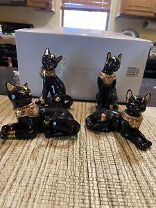 4 Lenox Egyptian cats