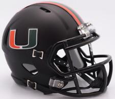 MIAMI HURRICANES NCAA Riddell SPEED Authentic MINI Football Helmet