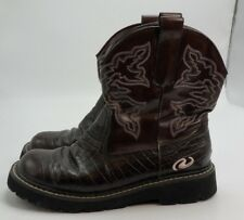 WOMENS~ROPER~WESTERN~BOOTS~Size 6.5~COWBOY~BROWN~CHOCOLATE