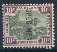 Malaya 1901 Mi. 20 Nuovo * 100% Saggio, 10 C, Tigre, filigrana 1