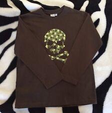 Boys Size 9 Longsleeve Tshirt Glow in the Dark Skull Motif New Quality Material