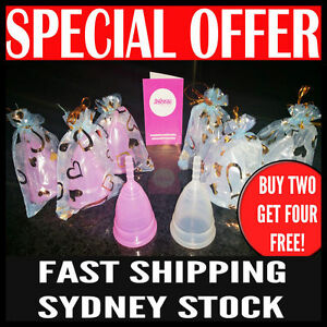 6 x Authentic 100% Medical Silicone Soft Menstrual Period Cup Reusable TWO SIZES