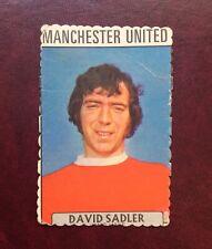 A&BC 1971 CRINKLE CUT PURPLE BACK CARD -# 125 ~ DAVID SADLER of MAN UNITED ~ EXC