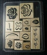 Stampin Up Rubber Stamps Rose Rhapsody Two Step 13 Piece Set 2000