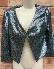 Next Ladies Blazer Taille 10 Paillettes Parti Glitz GLAM SEXY