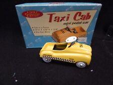 New Taxi Cab Mini Pedal Car 1997 Xonex Die Cast Metal In Box