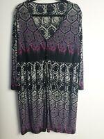 TS Taking Shape Women's Plus Size M 18/20 Dress Multi Pattern Dress