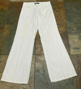 """VICTORIA SECRET 6 x 34"""" London Jeans White Denim Super Flare Leg B"""