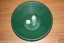 "14"" Plastic GOLD PAN Green Mining Prospecting Panning Kit |  3OZ SNIFTER BOTTLE"